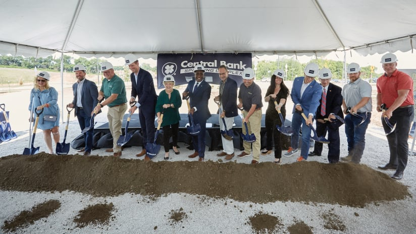 Sporting KC breaks ground on Central Bank Sporting Complex