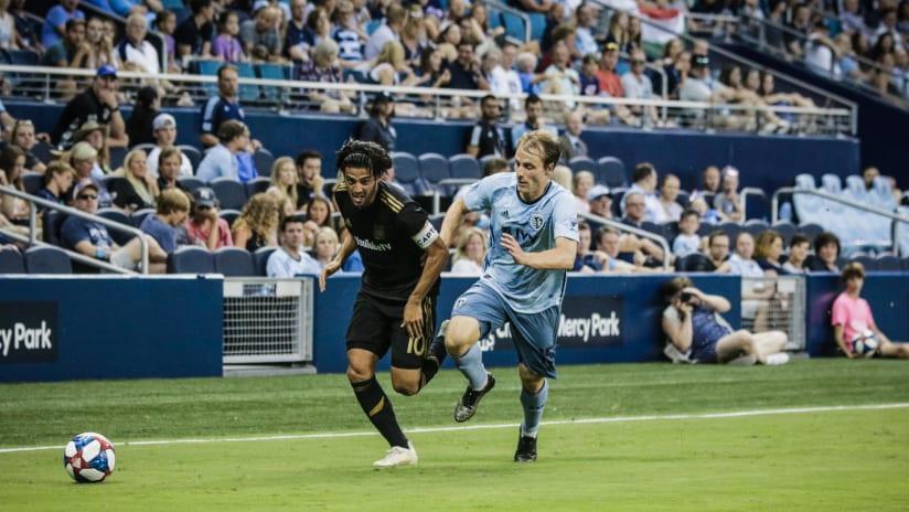 Seth Sinovic and Carlos Vela - Sporting KC vs. LAFC - July 3, 2019