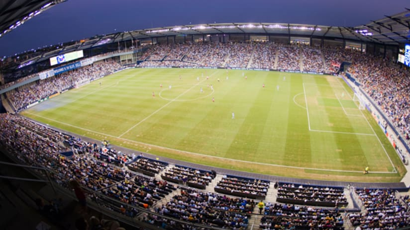 LIVESTRONG Sporting Park under the lights