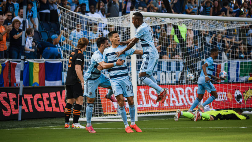 Daniel Salloi celebration - Sporting KC vs. Houston Dynamo FC - Oct. 3, 2021