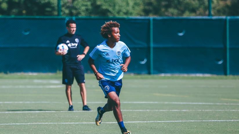 Gianluca Busio Training Sporting KC