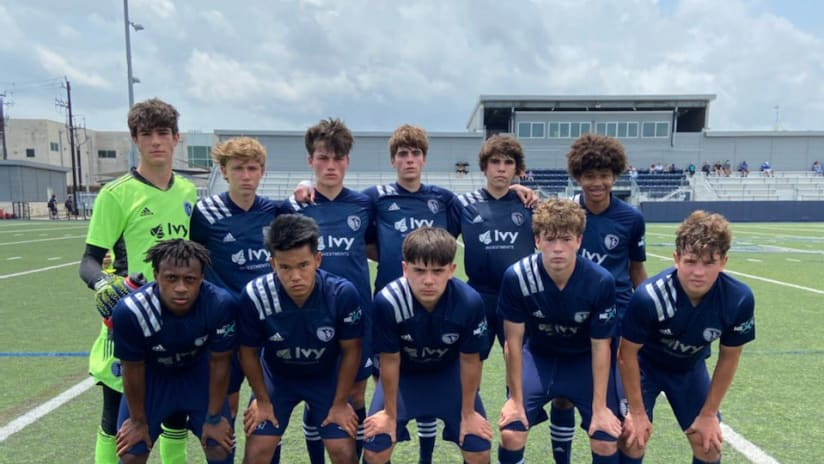Sporting KC Academy combines for five wins in MLS NEXT trip to Texas