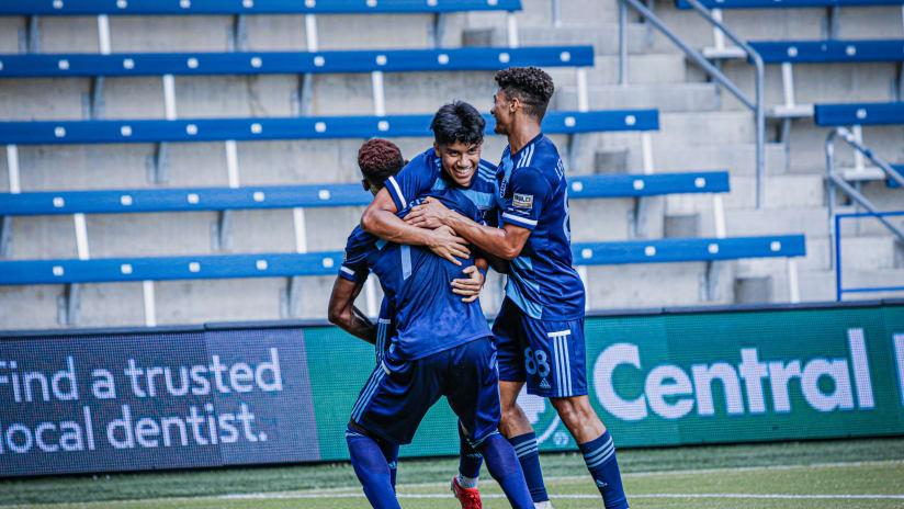 Team celebration - Sporting KC II vs. OKC Energy FC - Sept. 4, 2021