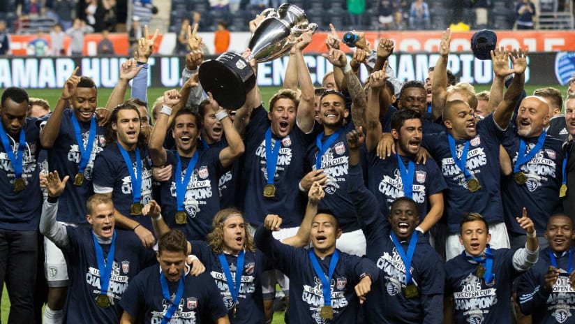 2015 Open Cup Trophy Celebration