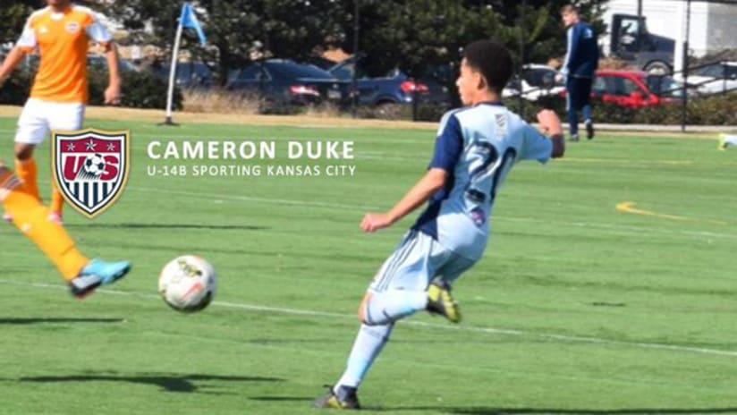 Sporting KC Academy U14 Cameron Duke