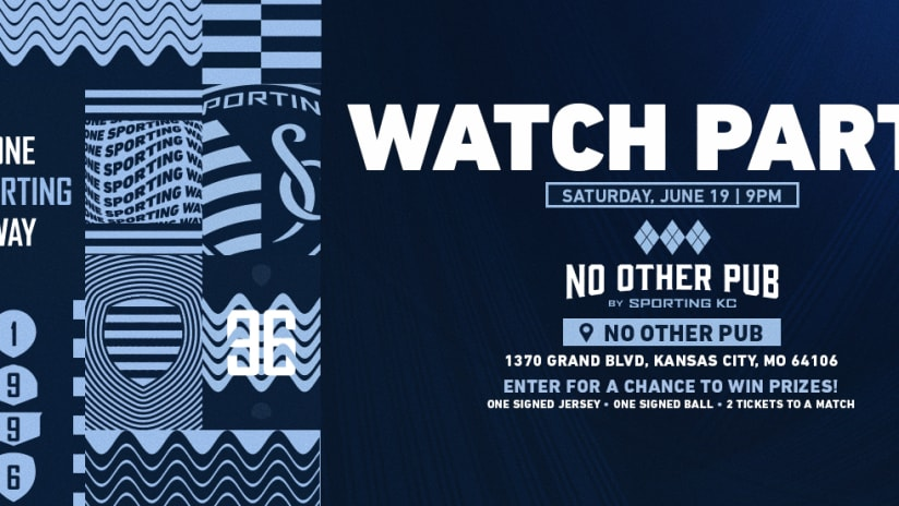 No Other Pub watch party - Sporting KC at Portland Timbers - June 19, 2021
