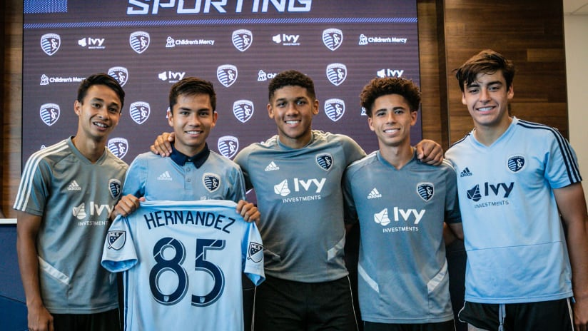 Felipe Hernandez with Sporting KC Homegrown Players - Sept. 3, 2019