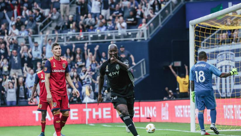 Ike Opara celebration - Sporting KC vs. Real Salt Lake - Sept. 30, 2018