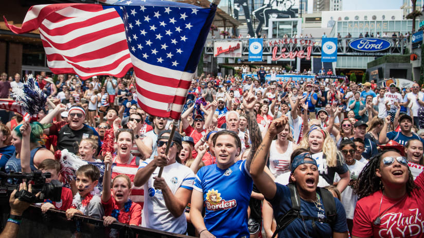 Women's World Cup Watch Party - Flag Flying - July 2, 2019