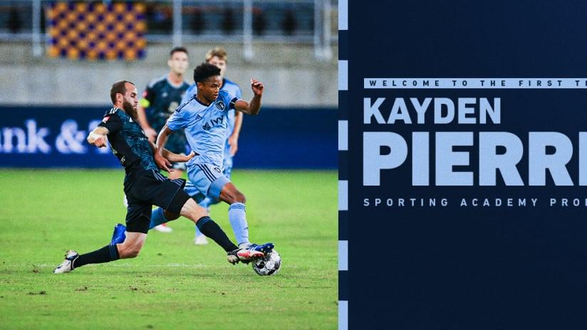 Sporting KC signs Kayden Pierre