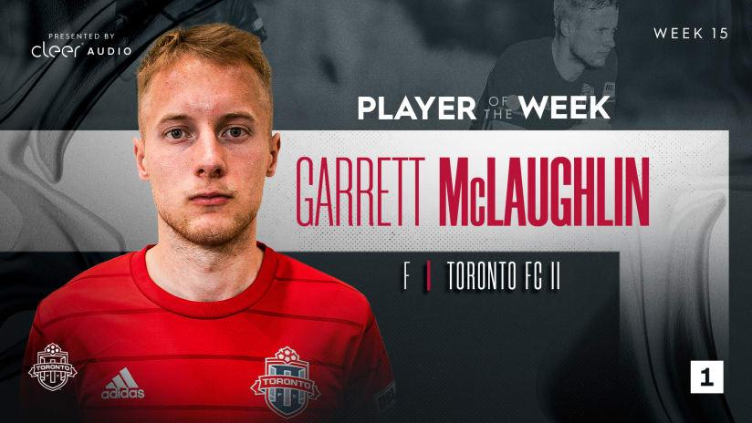TFC II's Garrett McLaughlin named Player of the Week