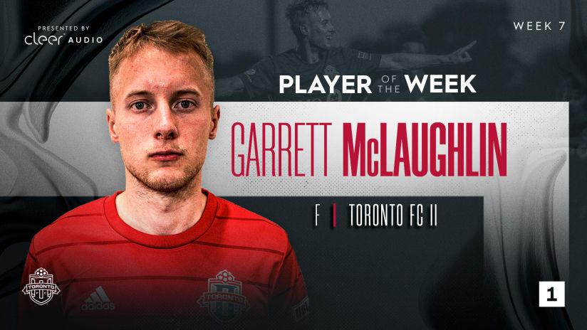 Toronto FC II's Garrett McLaughlin named Player of the Week