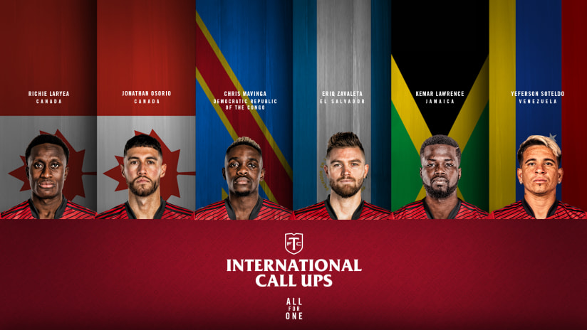 Six Reds called for international duty