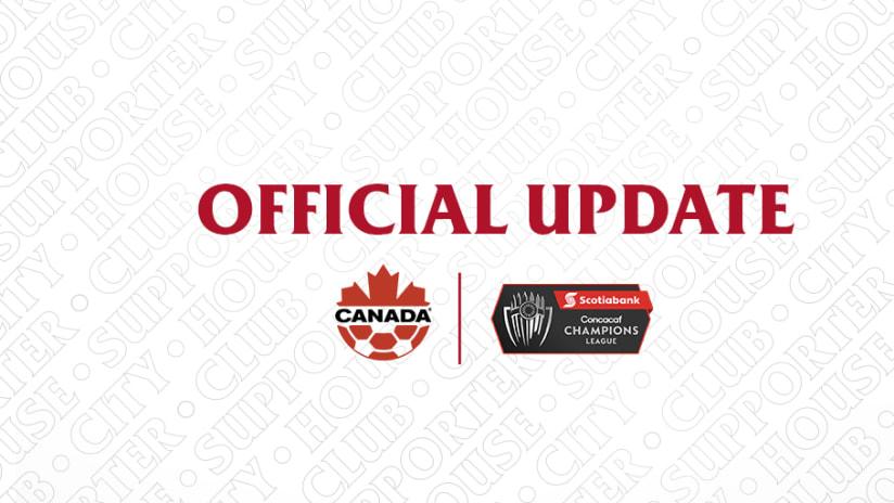 Canada Soccer Champions League Announcement