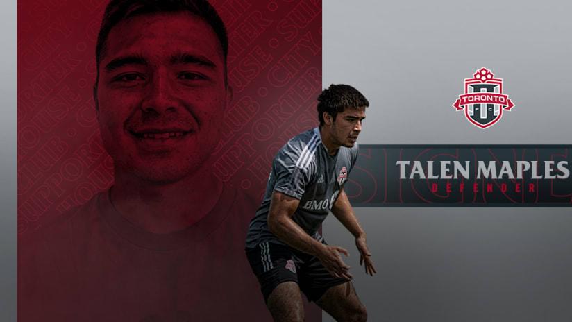 Toronto FC II Sign Talen Maples