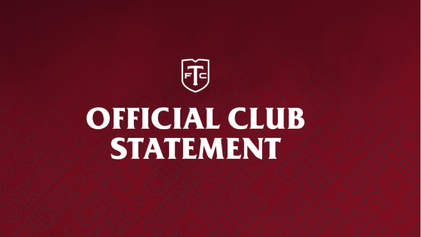 Official Club Statement 2021