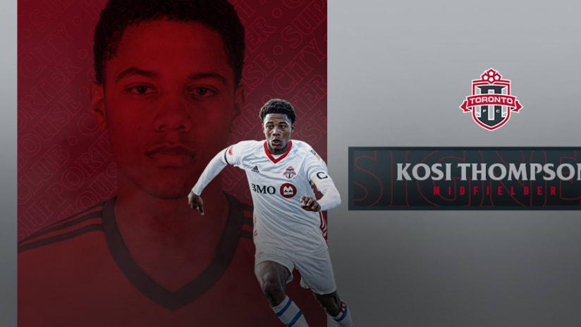 Toronto FC II Sign Kosi Thompson