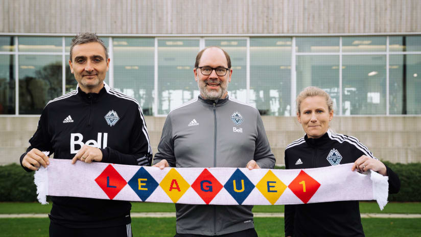 Whitecaps FC welcomed to League1 BC as a founding License Holder