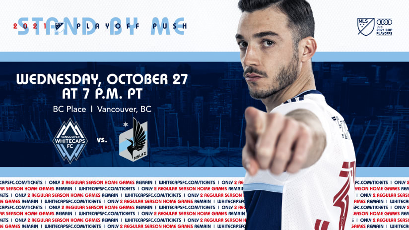 Whitecaps FC host Minnesota at BC Place with playoffs in sight