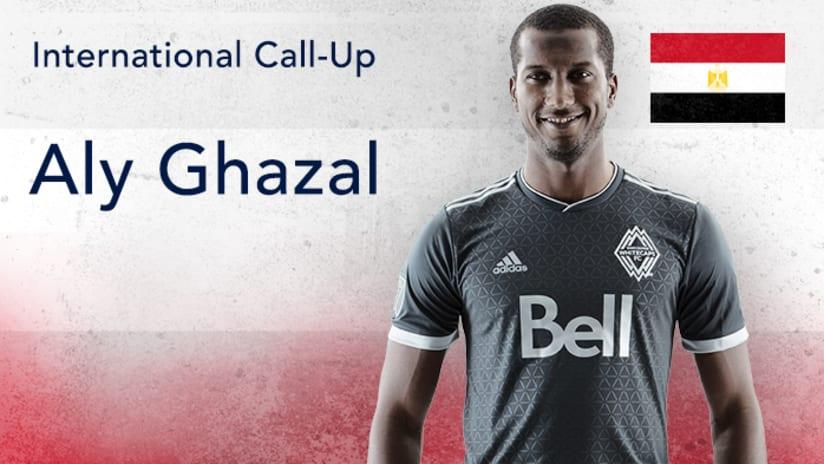 Aly Ghazal - international call-up