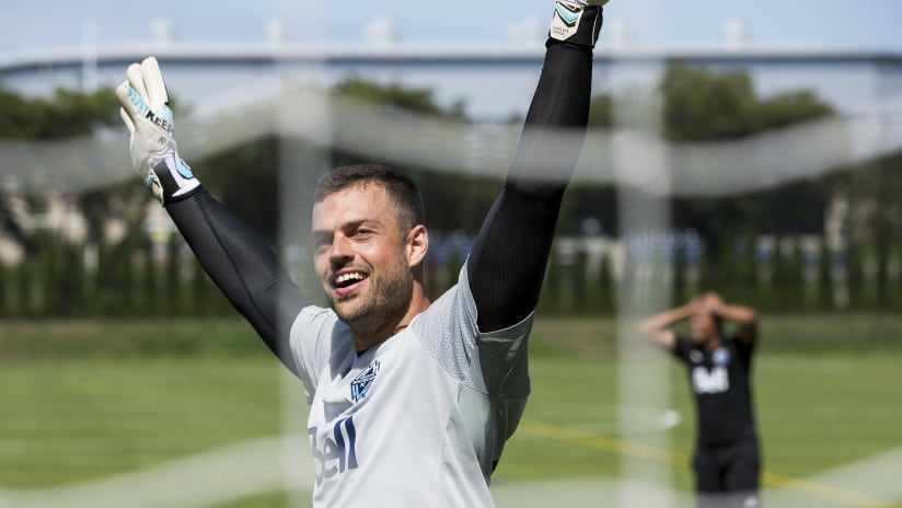 Stefan Marinovic - training