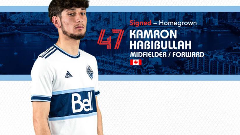 Kam Habibullah 2021 signing