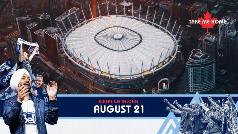 Whitecaps FC set to return to BC Place on August 21