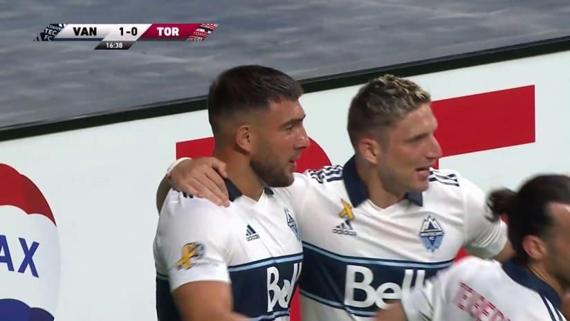 GOAL: Cavallini opens the scoring