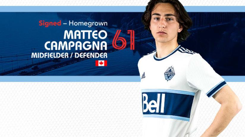 Matteo Campagna 2021 signing