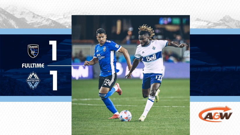 'Caps battle to valiant road point in draw with San Jose