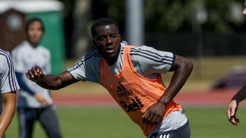 Jordan Smith - first training session