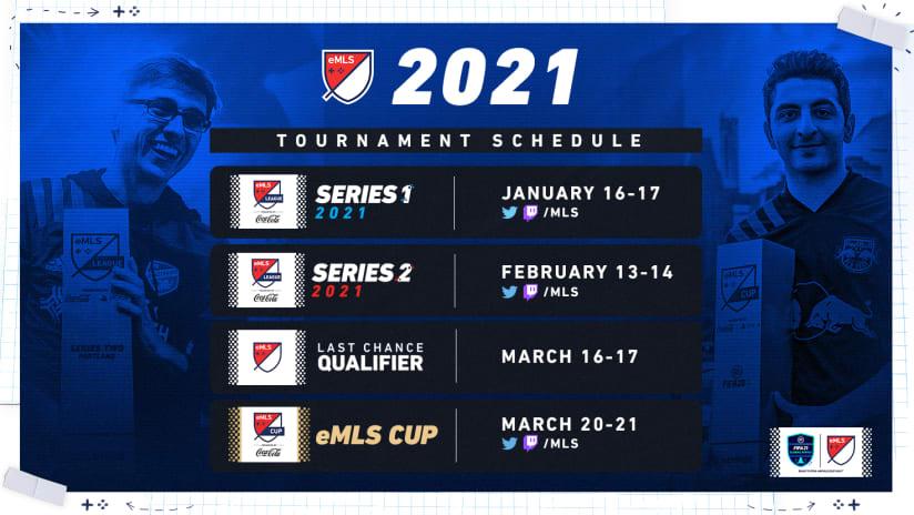 2021 eMLS schedule