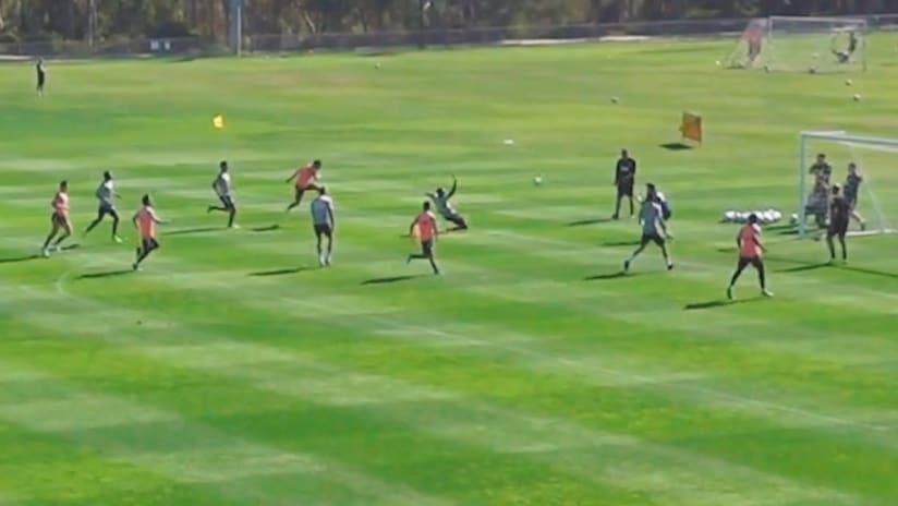 WATCH: Cavallini scores blast during training scrimmage