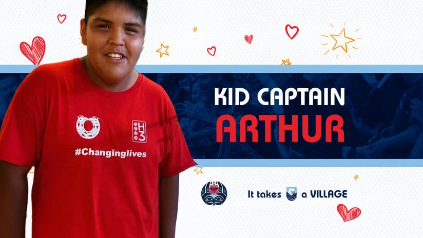 Kid Captain of the Match: Arthur