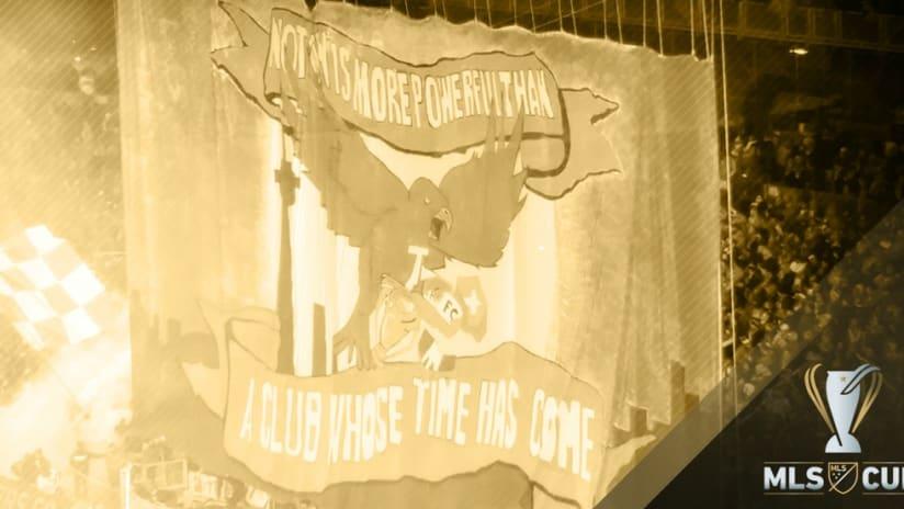 Toronto FC - MLS Cup - tifo - treated image