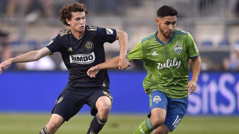 Brenden Aaronson - Alex Roldan - Philadelphia Union - Seattle Sounders