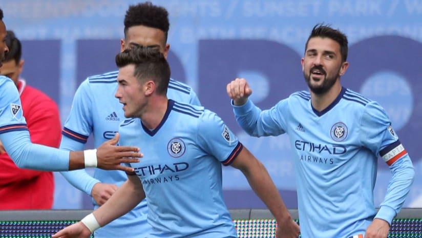 New York City FC - Celebrate - David Villa goal