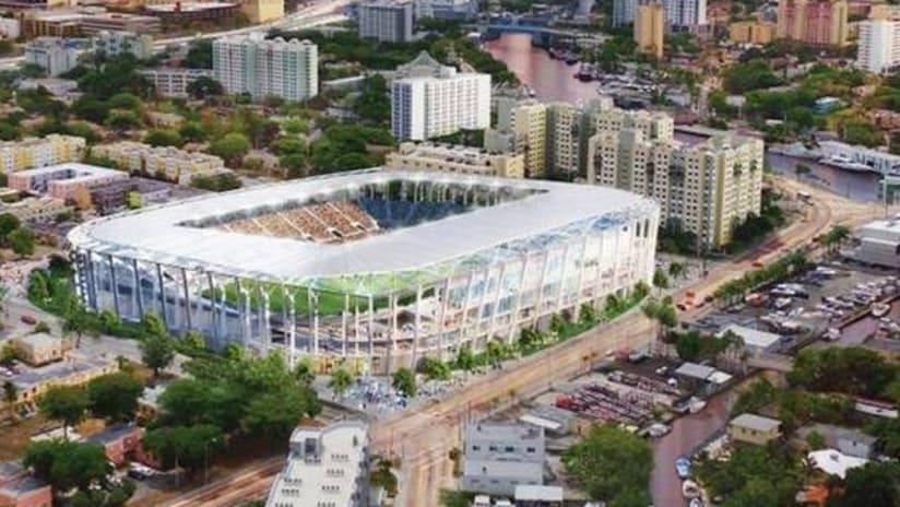 Miami Beckham United stadium rendering - May 2017