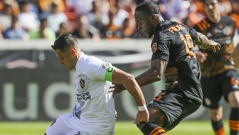 Chicharito - LA Galaxy - fights off challenge