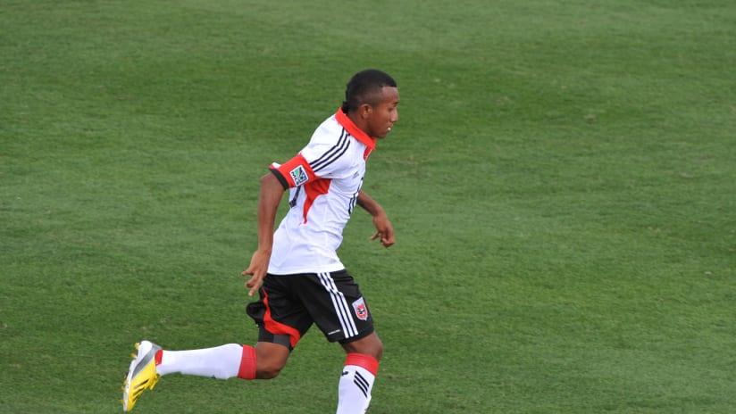 Marcos Sanchez in preseason for D.C. United