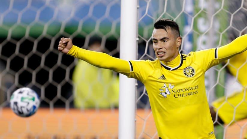 Lucas Zelarayan goal celebration vs. Sounders