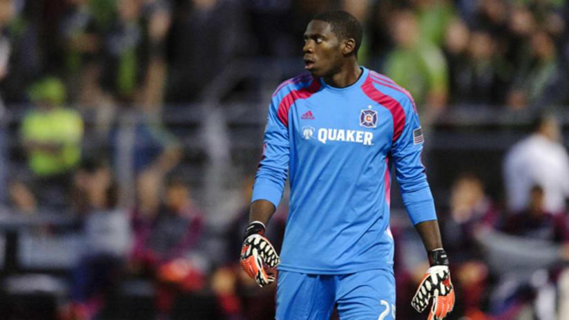 Chicago Fire goalkeeper Sean Johnson
