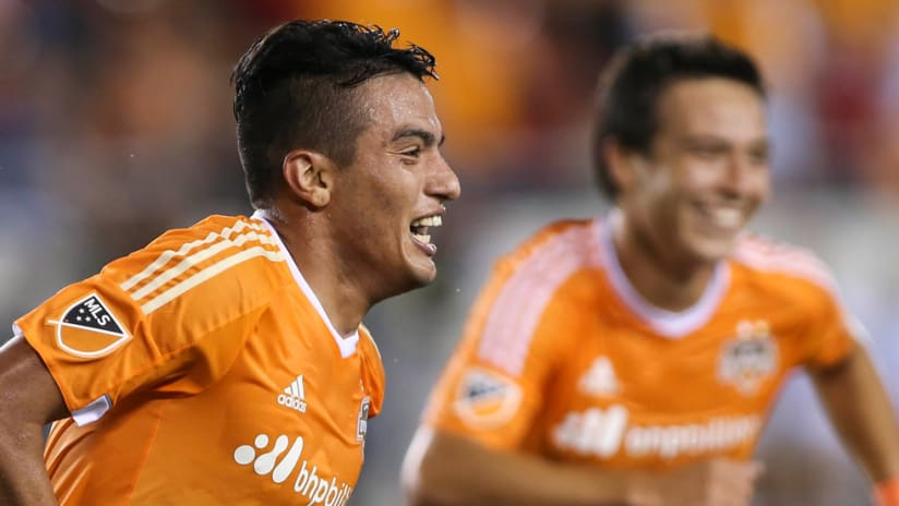 Leonel Miranda - Houston Dynamo - Celebrating