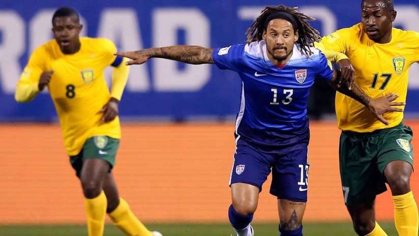 Jermaine Jones in action for the US vs. St. Vincent & the Grenadines