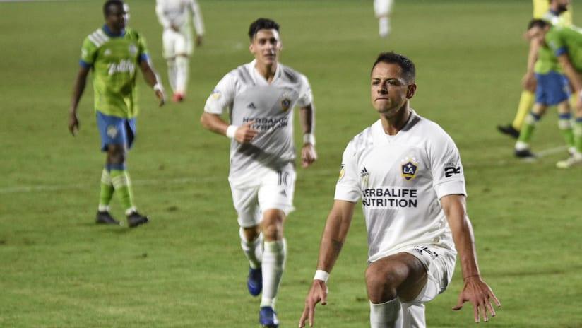 """Javier """"Chicharito"""" Hernandez goal celebration vs. SEA"""