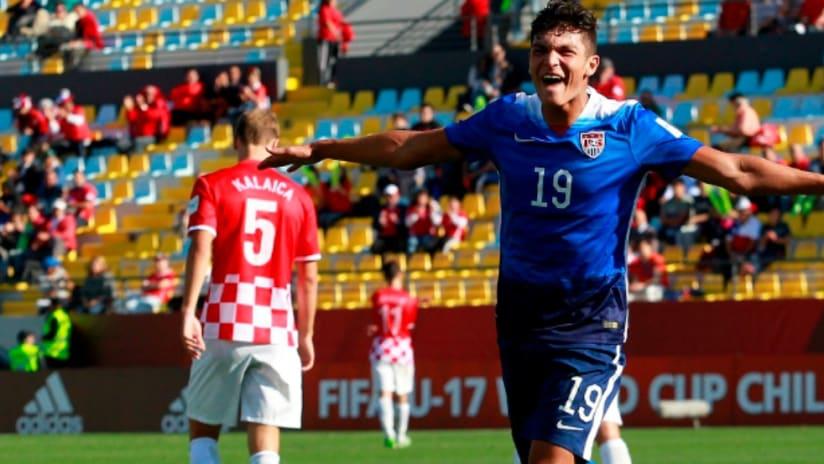 Brandon Vazquez celebration - U-17 World Cup - 10/20/15