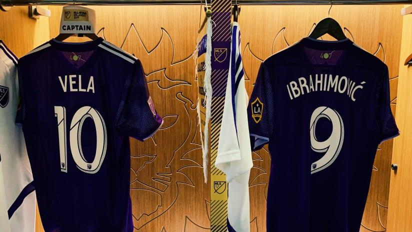 Zlatan Ibrahimovic - Carlos Vela - MLS All-Star locker room