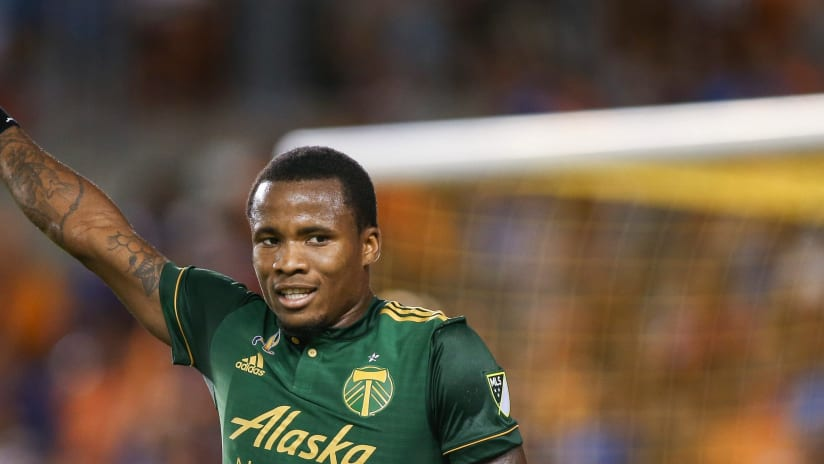 Alvas Powell - Portland Timbers - Thumbs up