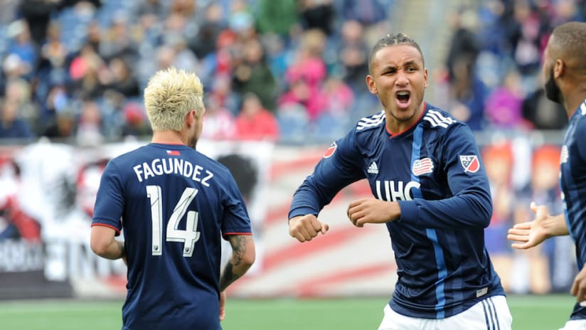 Juan Agudelo goal celebration-NE-NYC-3.24.18