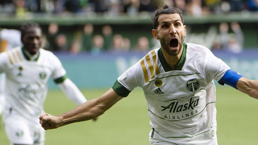 Diego Valeri - Portland Timbers - goal celebration